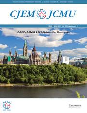Canadian Journal of Emergency Medicine Volume 22 - SupplementS1 -