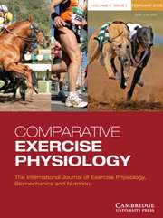Comparative Exercise Physiology Volume 5 - Issue 1 -