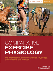 Comparative Exercise Physiology Volume 6 - Issue 2 -