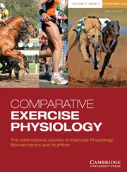 Comparative Exercise Physiology Volume 6 - Issue 4 -