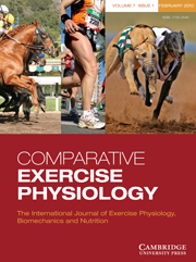 Comparative Exercise Physiology Volume 7 - Issue 1 -