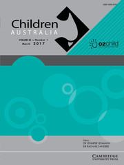 Children Australia Volume 42 - Issue 1 -