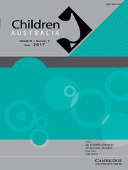 Children Australia Volume 42 - Issue 2 -