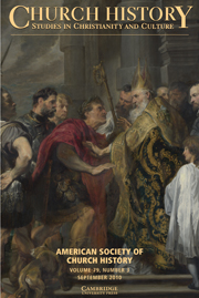 Church History Volume 79 - Issue 3 -