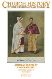 Church History Volume 84 - Issue 1 -
