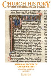 Church History Volume 84 - Issue 2 -