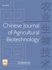 Chinese Journal of Agricultural Biotechnology Volume 5 - Issue 1 -