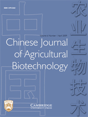 Chinese Journal of Agricultural Biotechnology Volume 6 - Issue 1 -