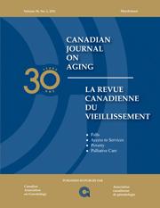Canadian Journal on Aging / La Revue canadienne du vieillissement Volume 30 - Issue 1 -