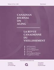 Canadian Journal on Aging / La Revue canadienne du vieillissement Volume 31 - Issue 1 -