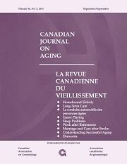Canadian Journal on Aging / La Revue canadienne du vieillissement Volume 36 - Issue 3 -