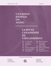 Canadian Journal on Aging / La Revue canadienne du vieillissement Volume 40 - Issue 2 -