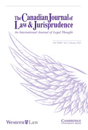 Canadian Journal of Law & Jurisprudence