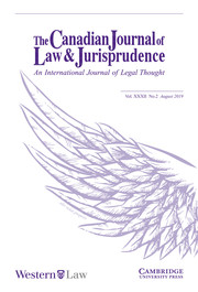 Canadian Journal of Law & Jurisprudence Volume 32 - Issue 2 -