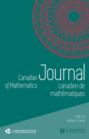 Canadian Journal of Mathematics Volume 71 - Issue 1 -