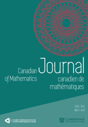 Canadian Journal of Mathematics Volume 73 - Issue 2 -