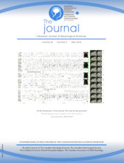 Canadian Journal of Neurological Sciences Volume 45 - Issue 3 -
