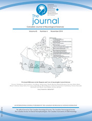 Canadian Journal of Neurological Sciences Volume 45 - Issue 6 -