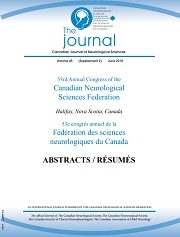 Canadian Journal of Neurological Sciences Volume 45 - Supplements2 -  ABSTRACTS: 53rd Annual Congress of the Canadian Neurological Sciences Federation