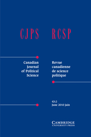 Canadian Journal of Political Science/Revue canadienne de science politique Volume 43 - Issue 2 -  Diversity and Democratic Politics