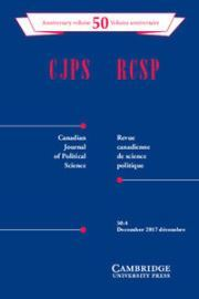 Canadian Journal of Political Science/Revue canadienne de science politique Volume 50 - Issue 4 -