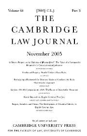 The Cambridge Law Journal Volume 64 - Issue 3 -