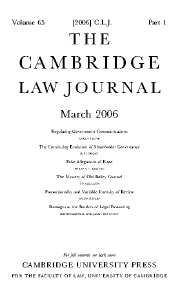 The Cambridge Law Journal Volume 65 - Issue 1 -