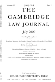 The Cambridge Law Journal Volume 68 - Issue 2 -