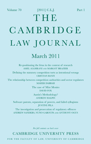The Cambridge Law Journal Volume 70 - Issue 1 -