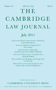 The Cambridge Law Journal Volume 70 - Issue 2 -