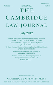 The Cambridge Law Journal Volume 71 - Issue 2 -