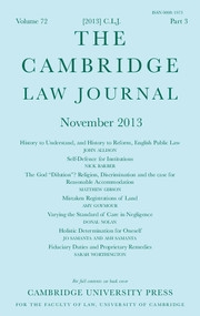 The Cambridge Law Journal Volume 72 - Issue 3 -