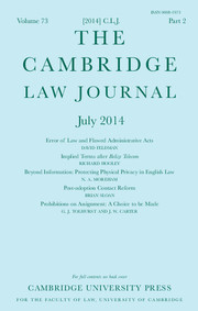 The Cambridge Law Journal Volume 73 - Issue 2 -