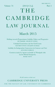 The Cambridge Law Journal Volume 74 - Issue 1 -