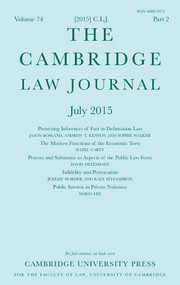 The Cambridge Law Journal Volume 74 - Issue 2 -