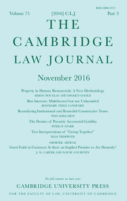 The Cambridge Law Journal Volume 75 - Issue 3 -
