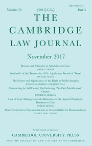 The Cambridge Law Journal Volume 76 - Issue 3 -