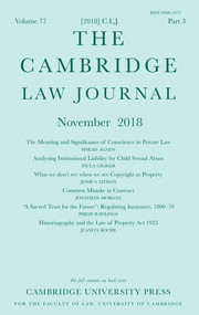 The Cambridge Law Journal Volume 77 - Issue 3 -