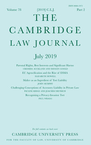 The Cambridge Law Journal Volume 78 - Issue 2 -