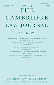 The Cambridge Law Journal Volume 79 - Issue 1 -