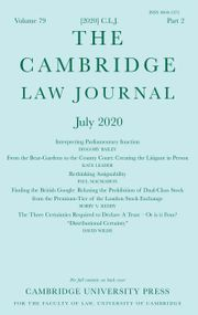 The Cambridge Law Journal Volume 79 - Issue 2 -