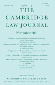 The Cambridge Law Journal Volume 79 - Issue 3 -
