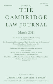 The Cambridge Law Journal Volume 80 - Issue 1 -