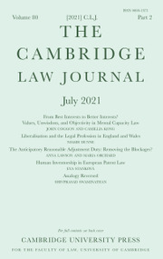 The Cambridge Law Journal Volume 80 - Issue 2 -