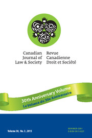 Canadian Journal of Law and Society / La Revue Canadienne Droit et Société Volume 30 - Issue 3 -