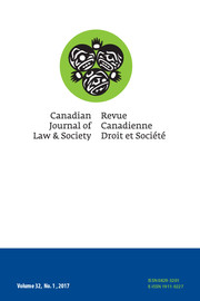 Canadian Journal of Law and Society / La Revue Canadienne Droit et Société Volume 32 - Issue 1 -