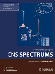 CNS Spectrums Volume 18 - Issue 2 -