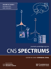 CNS Spectrums Volume 18 - Issue 6 -