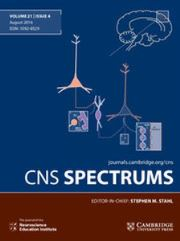 CNS Spectrums Volume 21 - Special Issue4 -  Nosology in DSM5 vs. ICD