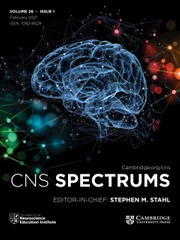 CNS Spectrums Volume 26 - Issue 1 -